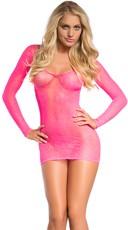 Pink Faux Lace Chemise