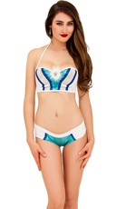 Holiday Underwire Bra Top and Boyshort Set