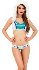 Winter Holiday Bra Top and Thong Set