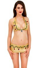 Holiday Lights Metallic Gold Bra Top Set