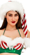 Yandy Metallic Striped Holiday Hat