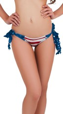 Stars And Stripes Tie Side Scrunch Rio Bottom