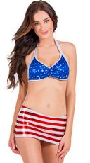 Patriotic Skirt Bikini