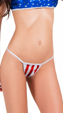 Red and White Striped Thong