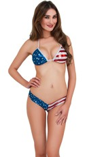 Stars and Stripes Metallic Swimsuit