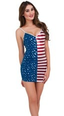Stars And Stripes Simple Strap Dress