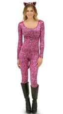 Neon Pink Leopard Catsuit