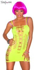 Groovy Gummys Cut Out, Multi Color Strap Dress