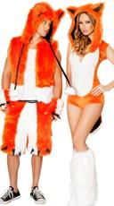 Orange Fox Couples Costume