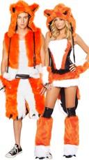 Deluxe Orange Fox Couples Costume