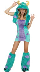 Sexy Blue and Purple Furry Costume