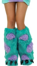 Blue and Purple Furry Legwarmers