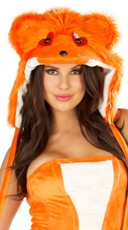 Orange Rave Bear Hood