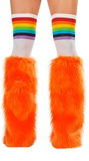Orange Rave Bear Legwarmers