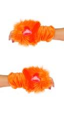 Orange Rave Bear Gloves