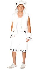 Men's Furry Polar Bear Costume