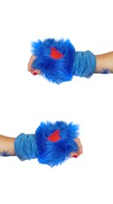 Royal Blue Rave Bear Gloves