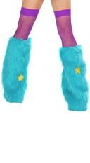 Turquoise Rave Bear Legwarmers