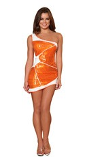 Sexy Orange Wedge Costume