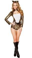 Metallic Sexy Leopard Costume