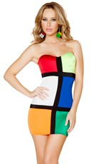 Color Blocked Cube Costume