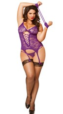 Plus Size Purple Midnight Affair Cami and Cuffs