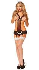 Cupless French Maid Apron Babydoll