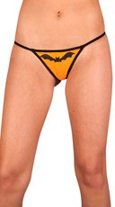 Plus Size Halloween Bat Thong
