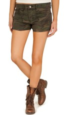 Hand Cut Camouflage Shorts