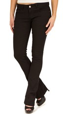 Black Baby Boot Cut Jeans