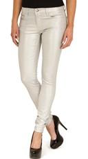 Silver Shimmer Skinny Jeans