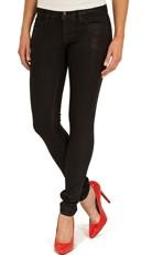 Black Wax Skinny Jeans