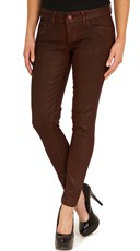 Red Wax Skinny Jeans