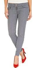 Railroad Stripe Stretch Skinny Jeans
