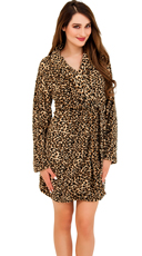Cheetah Print Plush Robe