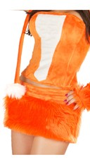 Orange Rave Bear Corset and Skirt