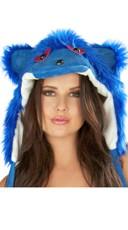 Royal Blue Rave Bear Hood