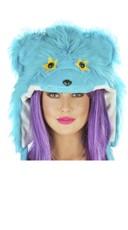 Turquoise Rave Bear Hood