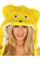 Yellow Rave Bear Hood
