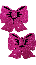 Hot Pink Glittering Bow Pasties