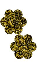 Glittering Gold Flower Pasties