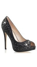 "Rhinestone Peep Toe Pump with 5"" Heel"