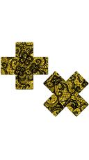 Gold Glitter Cross Pasties