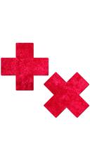 Red Velvet Cross Pasties