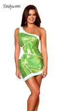 Sexy Lime Wedge Costume