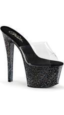 Mini Glitters Slide Heel
