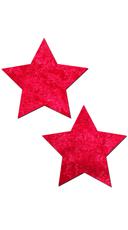 Red Velvet Star Nipple Pasties