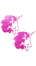 Hot Pink Glittering Unicorn Pasties