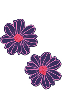 Purple And Pink Flower Pasties