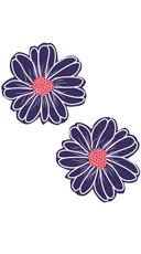 Purple And White Flower Pasties